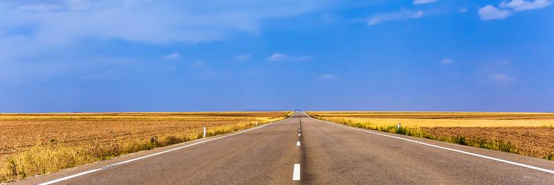 Road Teruel to Albarracin in Spain