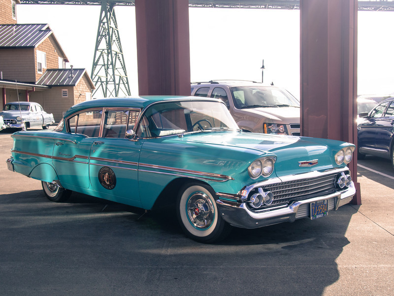 One of the Cannery Pier Hotel's cars.  The hotel drives guests to local restaurants.