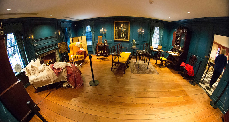 The Massachusetts Room, set up as a young girl's room