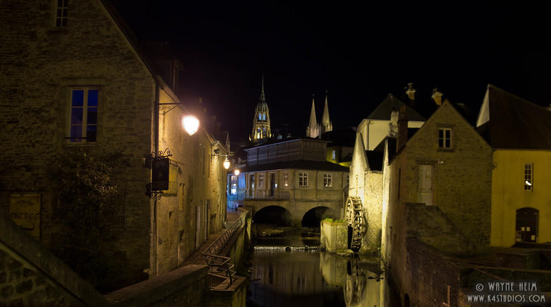 French Canal by Night 2 Photography by Wayne Heim