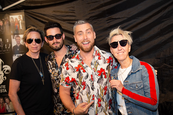 COACHELLA - Celebrity and Media Launch Party - Host Lance Bass NSYNC - Custom Tag for Ariana Grande - ENews - RealTVFilms Interview - Hair By British Hair Company - Coachella 2019