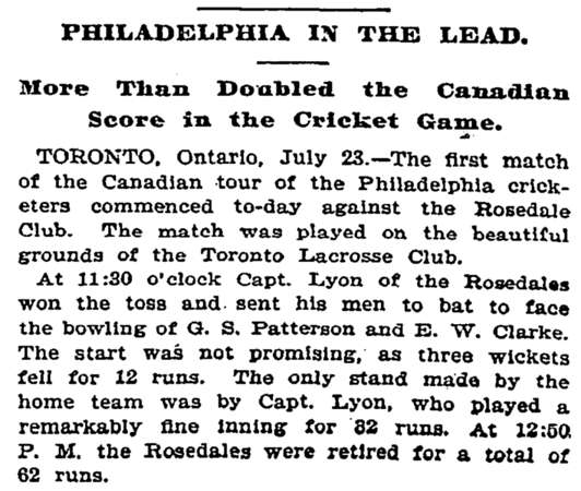 Canada America (Rosedale) July 1894