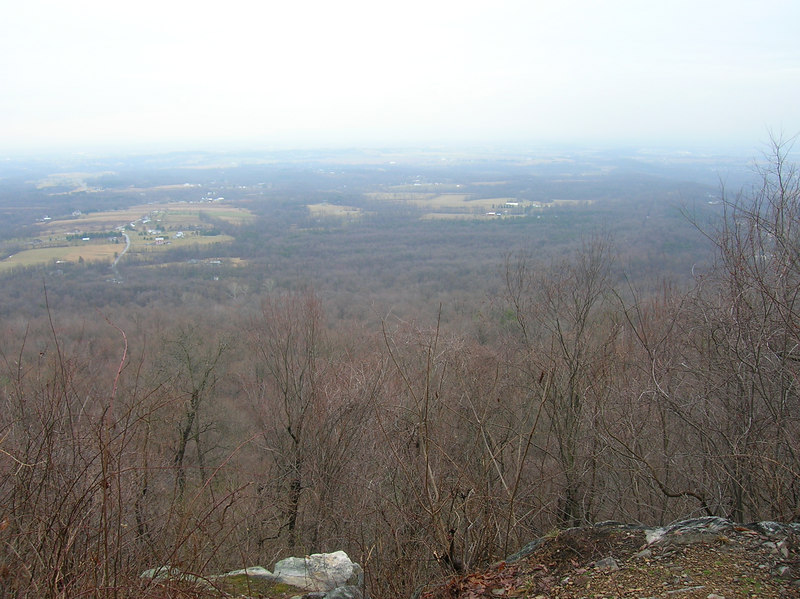 The view south over the Cumberland Valley on an overcast Saturday morning