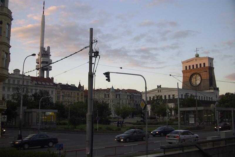 TV Tower and Church - Prague, Czech Republic