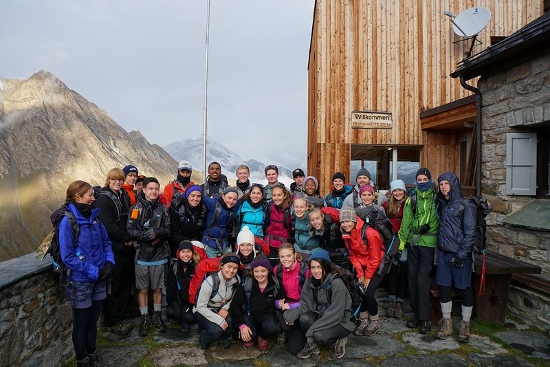 Just before leaving the Tasch Hut in the morning