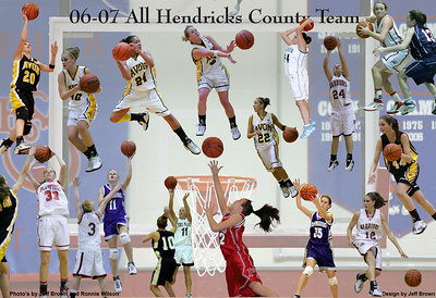 2006-2007 All Hendricks County Girls Team