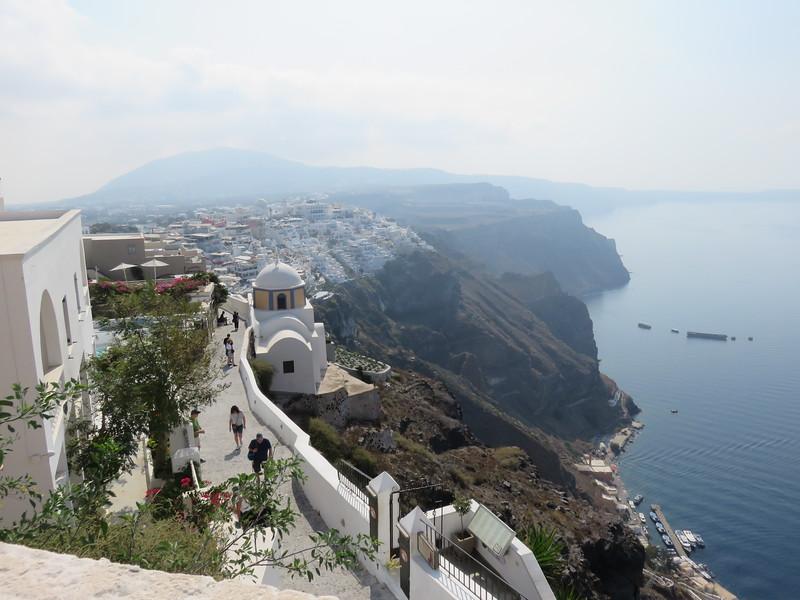 view of the santorini coast