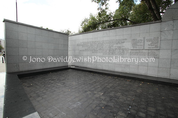 POLAND, Warsaw. Ghetto, Umschlagplatz Memorial, from where Jews were deported to Treblinka death camp. (9.2011)