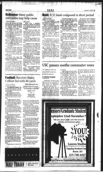 Daily Trojan, Vol. 150, No. 48, November 03, 2003