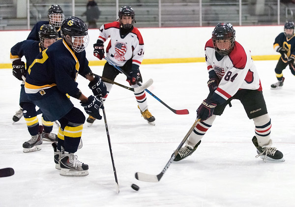 07/26/18 Wesley Bunnell | Staff Central CT Capitals (Newington) 14U skated to a scoreless tie against Simsbury on Thursday evening at Newington Arena in a Nutmeg Games contest. Zachary Caporale (84).