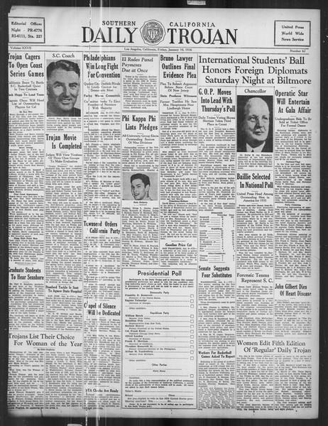 Daily Trojan, Vol. 27, No. 62, January 10, 1936
