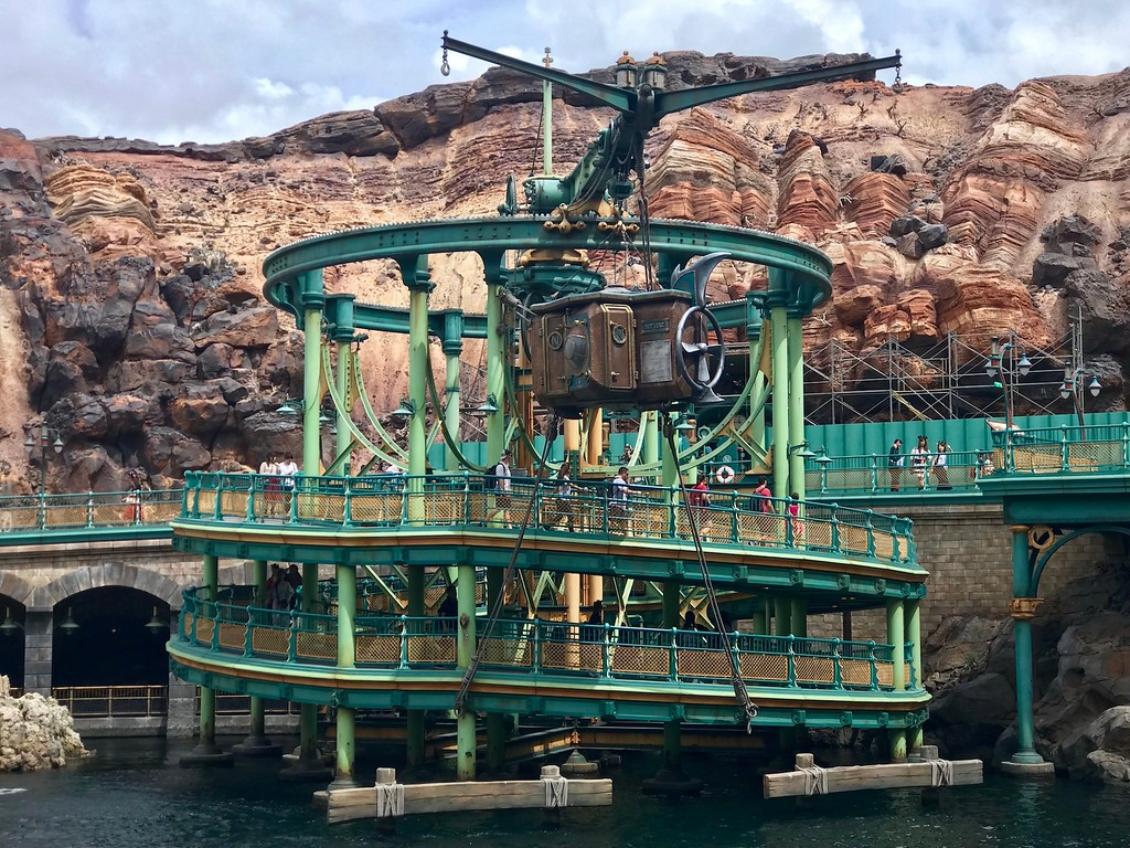 The winding entrance to 20,000 Leagues Under The Sea.