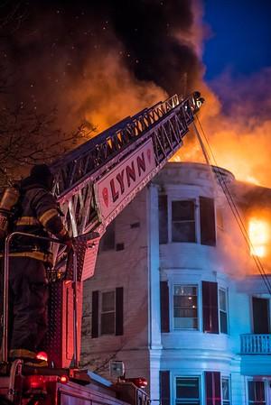 4+ Alarm Structure Fire - 26 Broad St, Lynn, MA - 1/8/18