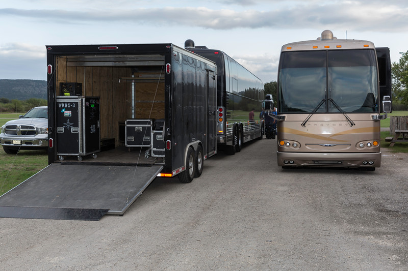 The touring buses