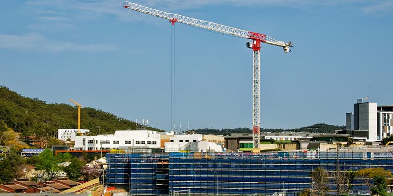 Gosford Hospital building progress H32ed september 2018.