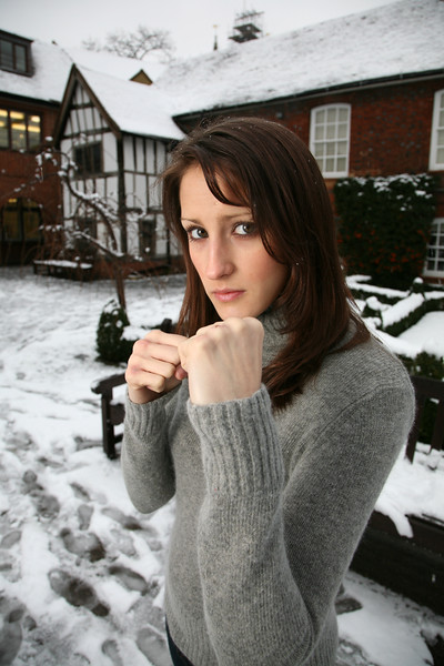 Karate fighter, Imogen Sanders