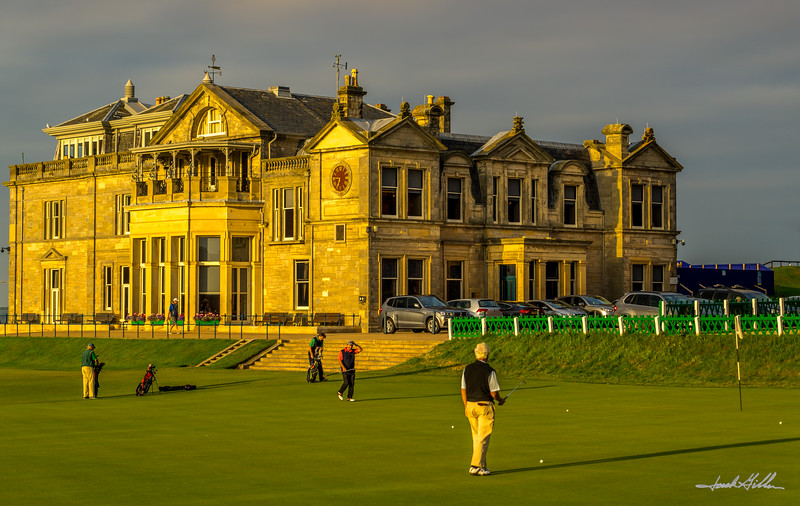 18th hole at sunset, Old Course, St Andrews
