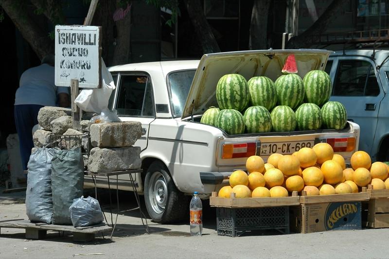 Melons for Sale at Taza Market - Baku, Azerbaijan