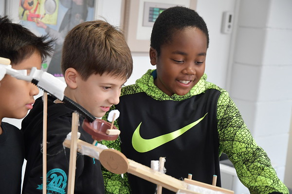 Fifth Graders Unveil their Contraptions During Super Science Week