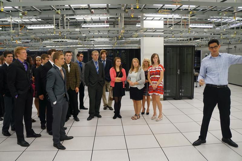 Field Trip: Business Management class tours BlueBridge Networks data center.