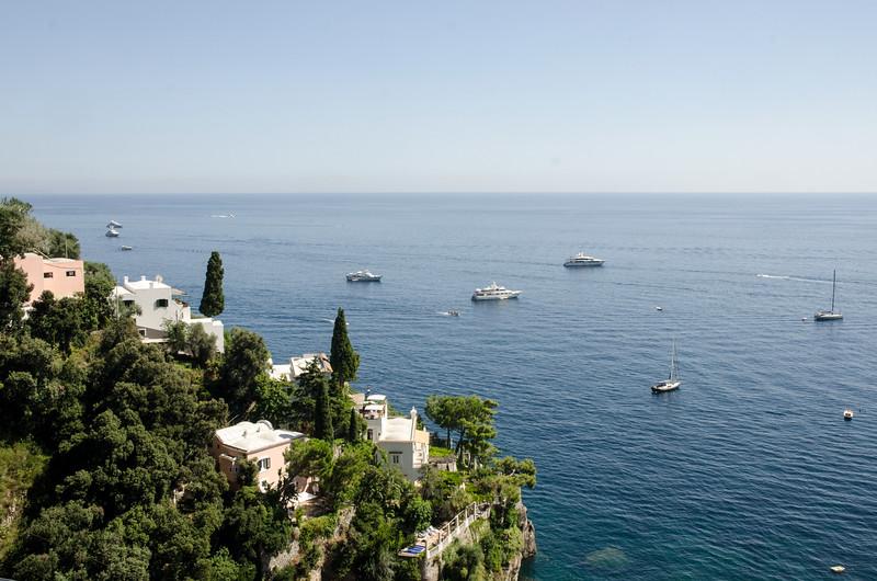 Roof terrace looking towards Amalfi