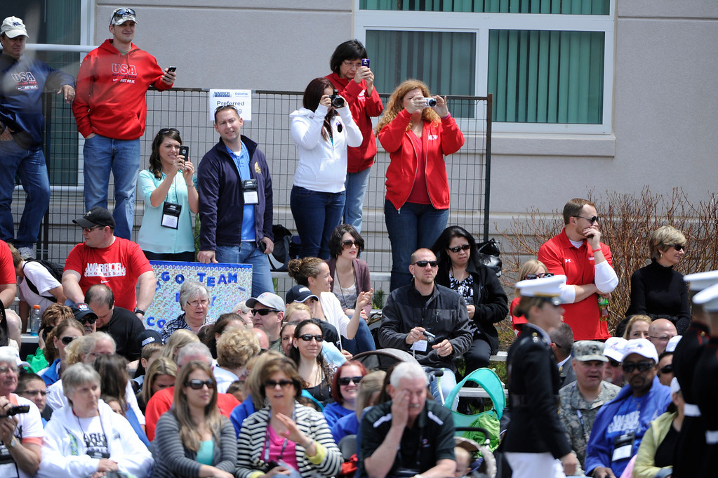 . COLORADO SPRINGS, CO - MAY 11: Spectators await Prince Harry of Wales and athletes for the opening 2013 Warrior Games opening ceremonies at the United States Olympic Training Center  Saturday afternoon, May 11th, 2013.(Photo By Andy Cross/The Denver Post)