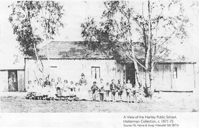 Hartley Public School before the brick school was built