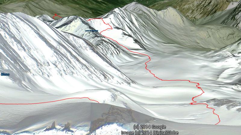 Ski Touring Val Thorens, 1st decent