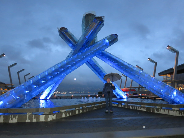 Vancouver in night, Canada - May, 2014