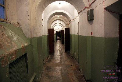 The prison hall in the basement