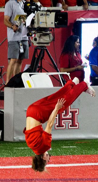 UH tumbler doing cheerleading