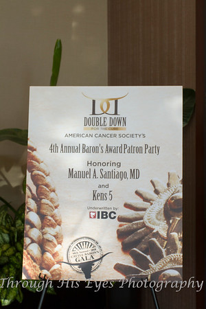 Baron's Award Patron Party 8-30-18
