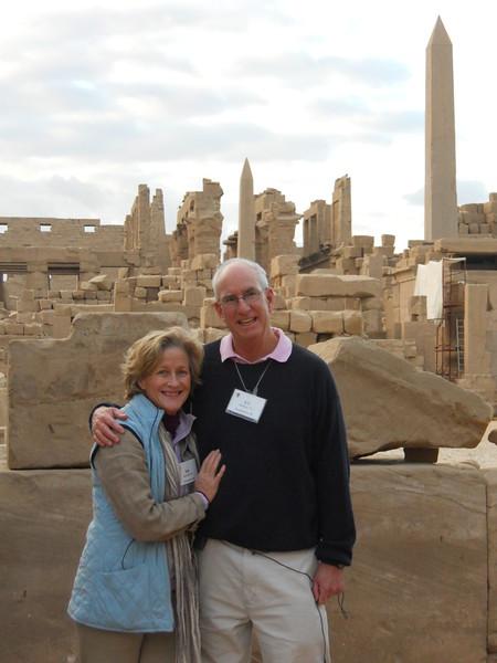 Ann & A.C., Starkey at Karnak Temple -- Kimberly Collins