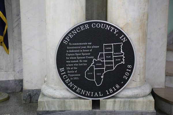 Spencer County Courthouse Cornerstone 100th Rededication 10-26-19