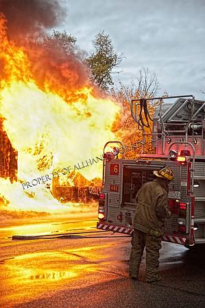 Detroit Box Alarm Commercial Building Fire 5839 Chene
