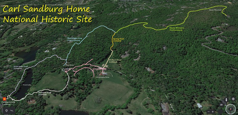 Carl Sandburg Hike Route Map