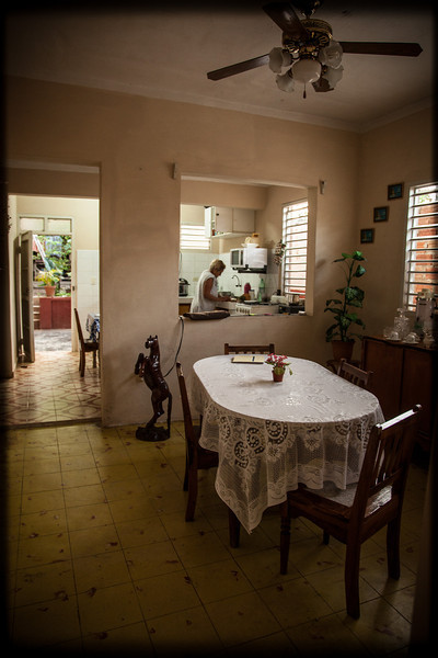 My Trinidad home. Felicia is cooking in the kitchen