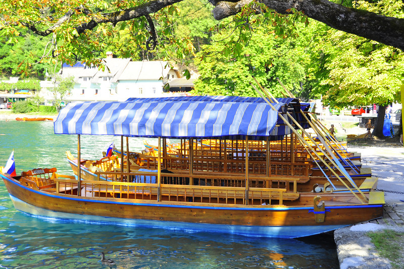Famous Lake Bled tour boats
