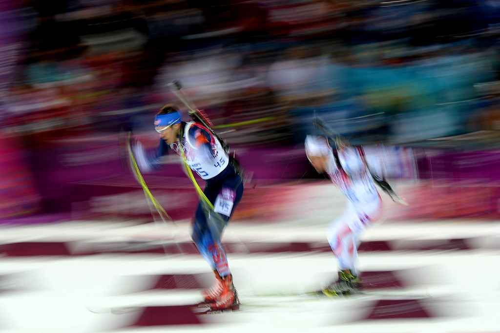 . Leif Nordgren of United States competes in the Men\'s 12.5 km Pursuit during day three of the Sochi 2014 Winter Olympics at Laura Cross-country Ski & Biathlon Center on February 10, 2014 in Sochi, Russia.  (Photo by Harry How/Getty Images)