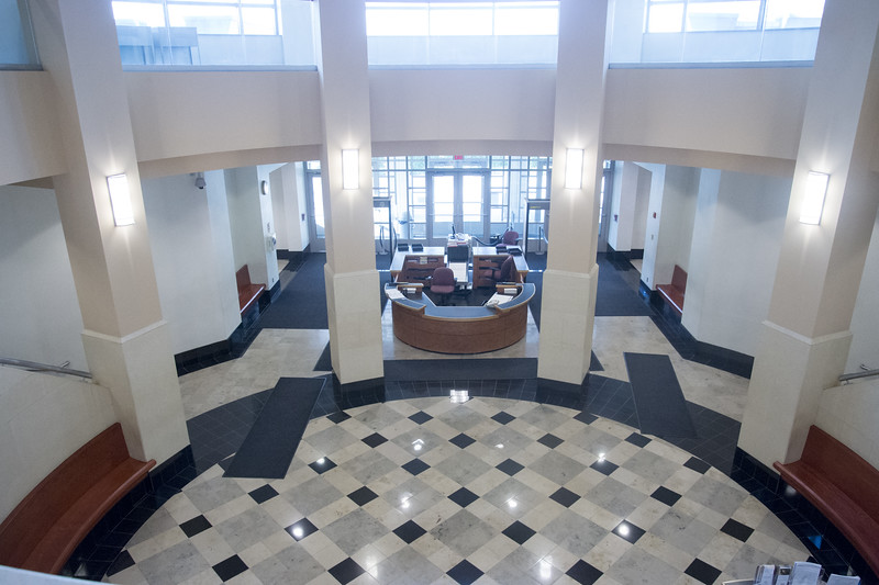 08/30/19  Wesley Bunnell | Staff  A view from the 2nd floor looking towards the main entrance at New Britain Superior Court on Friday August 30, 2019.