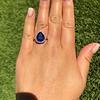 7.00ctw Tanzanite and Diamond Halo Ring 10