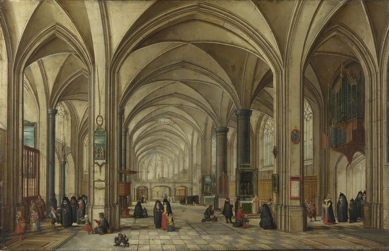 The Interior of a Gothic Church looking East