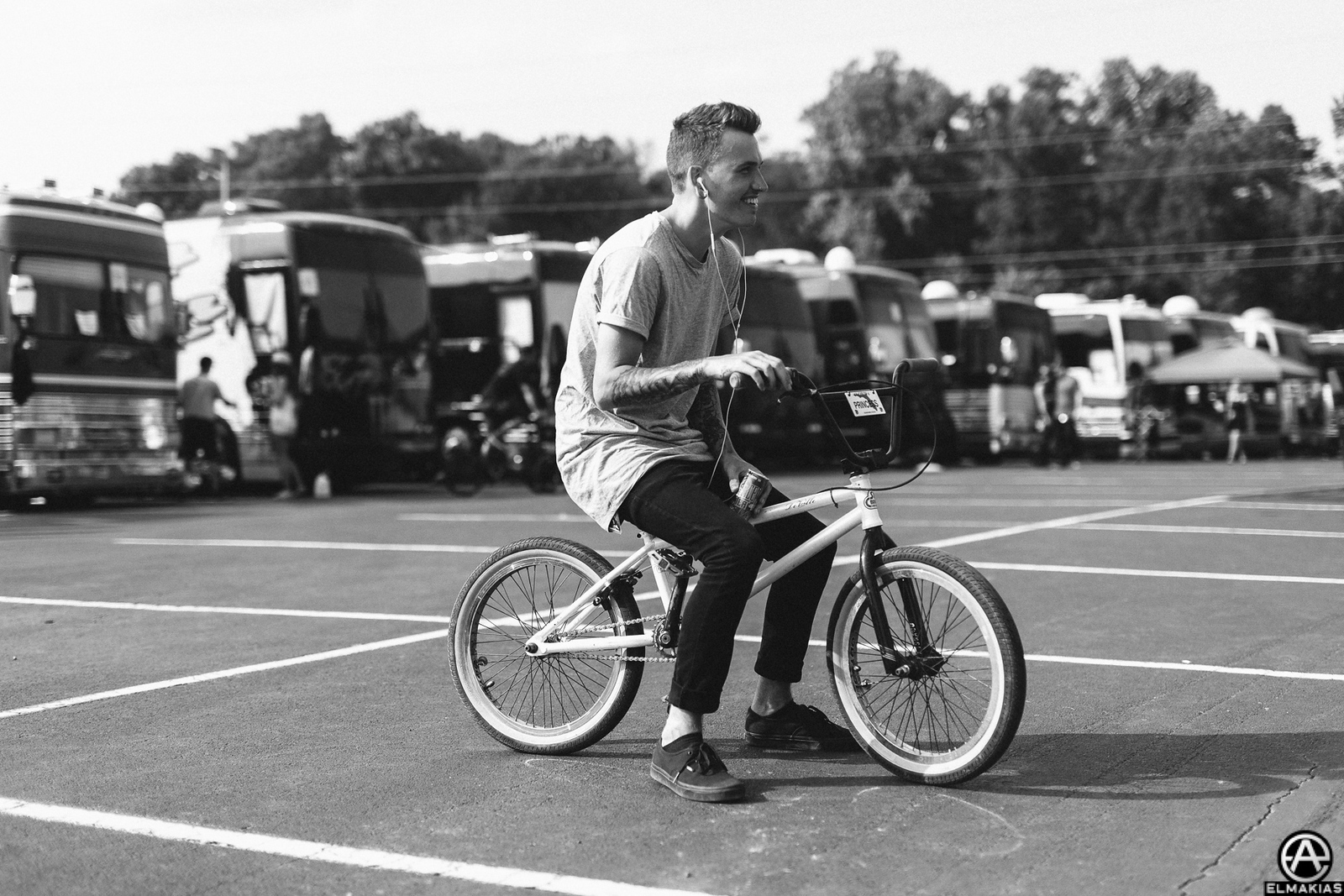 Alex Babinski of PVRIS at Vans Warped Tour 2015 by Adam Elmakias