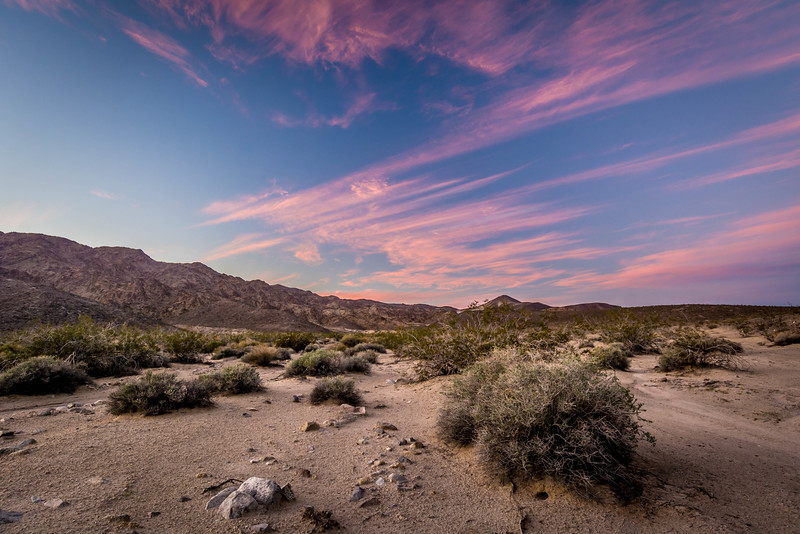 Sunset Skys over Shaw Pass - Mojave National Preserve, CA, USA