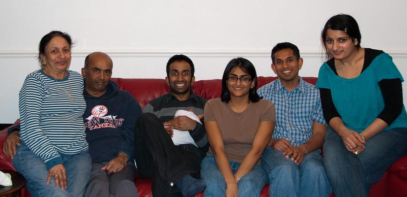 Nila Kaki, Mahendra Kaka, Baiju and Tavisha, Bhumisha, me, and Alpa