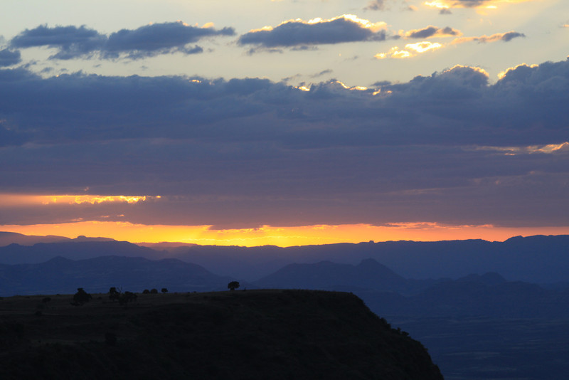 Lalibela sunset from my room