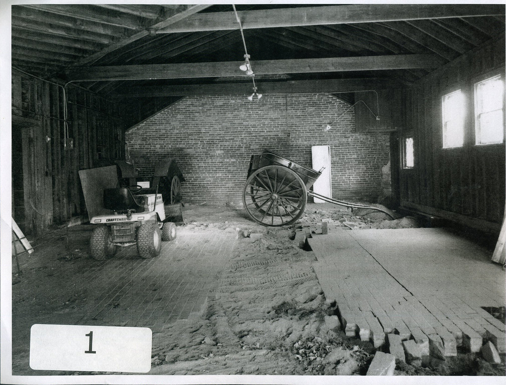 . The Carriage House prior to renovations. It opened as the Visitor Center in 1995. (courtesy James A. Garfield National Historic Site)