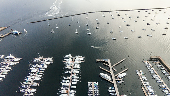 Atlantic Highlands Municipal Harbor from the Air