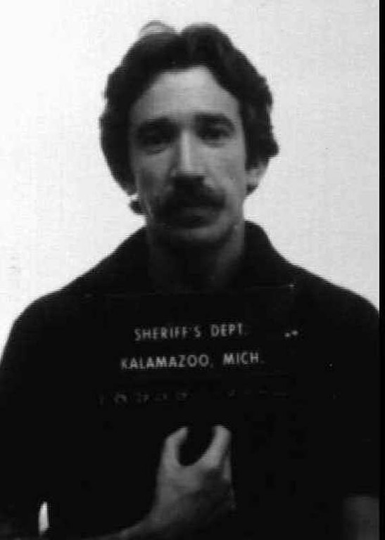 """. Actor Tim Allen is shown in this 1979 mugshot from the Kalamazoo, Mich. sheriff\'s department after being arrested for dealing cocaine. This photo is included in the paperback book, \""""Famous Mugs: Arresting Photos and Felonious Facts for Hundreds of Stars Behind Bars.\"""" (AP Photo/ho)"""