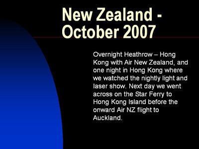 New Zealand 2007 (North Island)